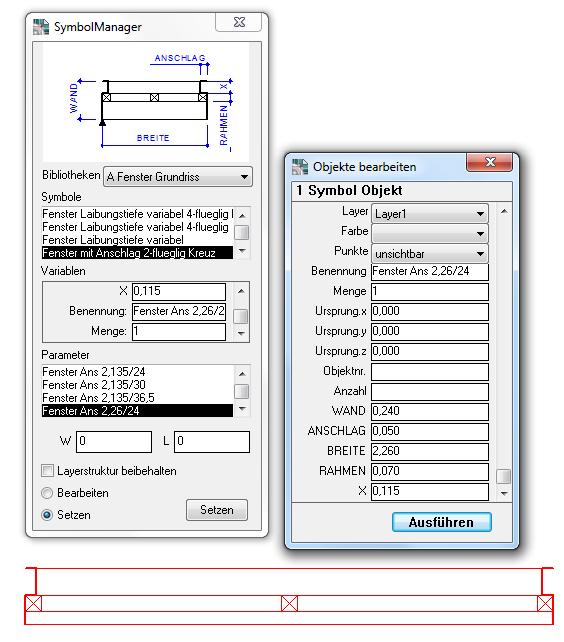 DraftBoard : Parametrie - Symbole
