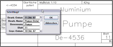 DraftBoard : Schriftkopf
